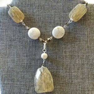 Premier Designs natural quartz necklace